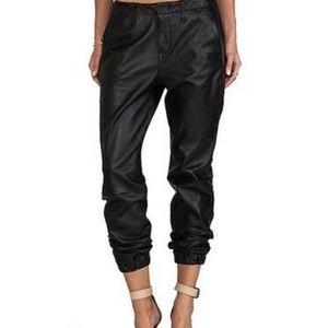 Rag & Bone Lamb Leather Jogger Style Pants sz 23